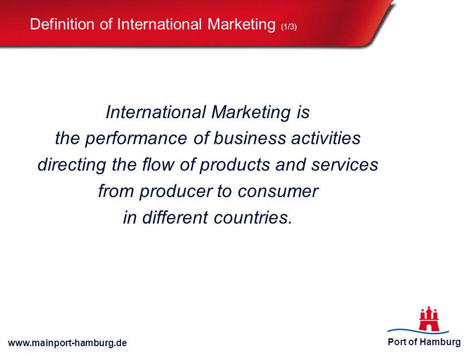 Definition of International Marketing (1/3)
