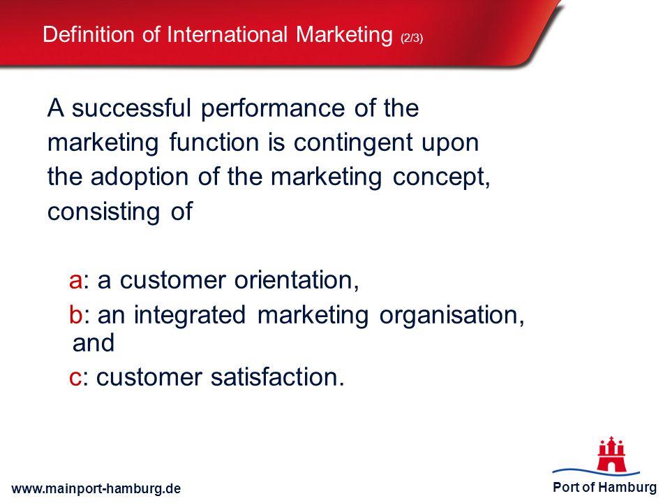 Definition of International Marketing (2/3)