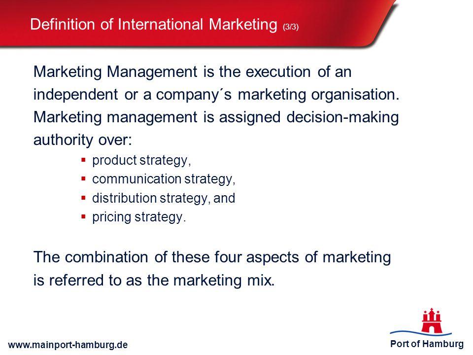 Definition of International Marketing (3/3)