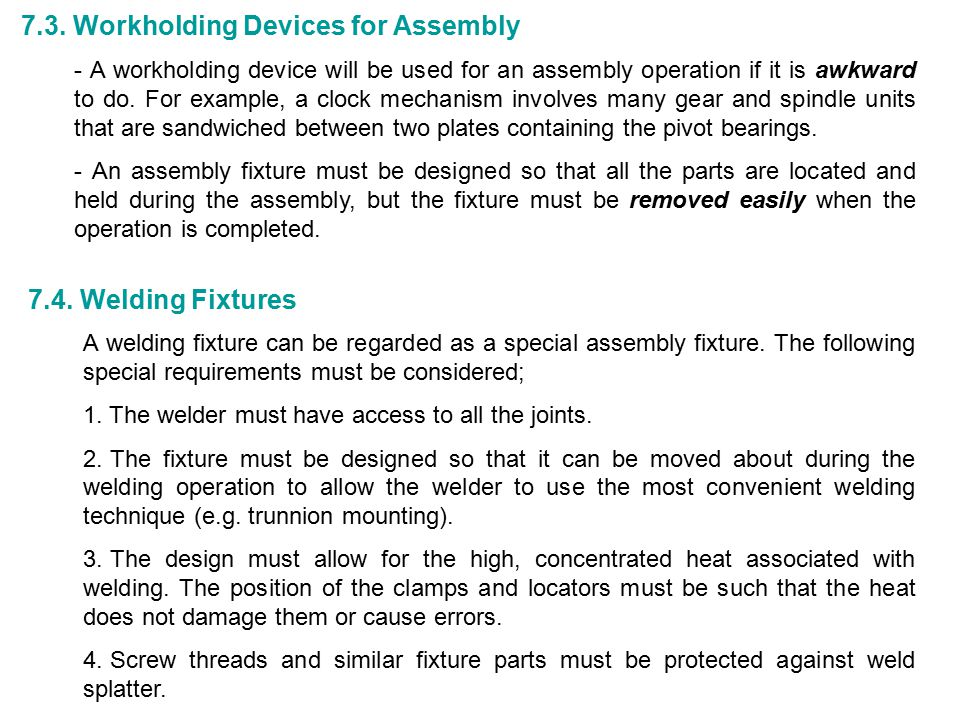 7.3. Workholding Devices for Assembly