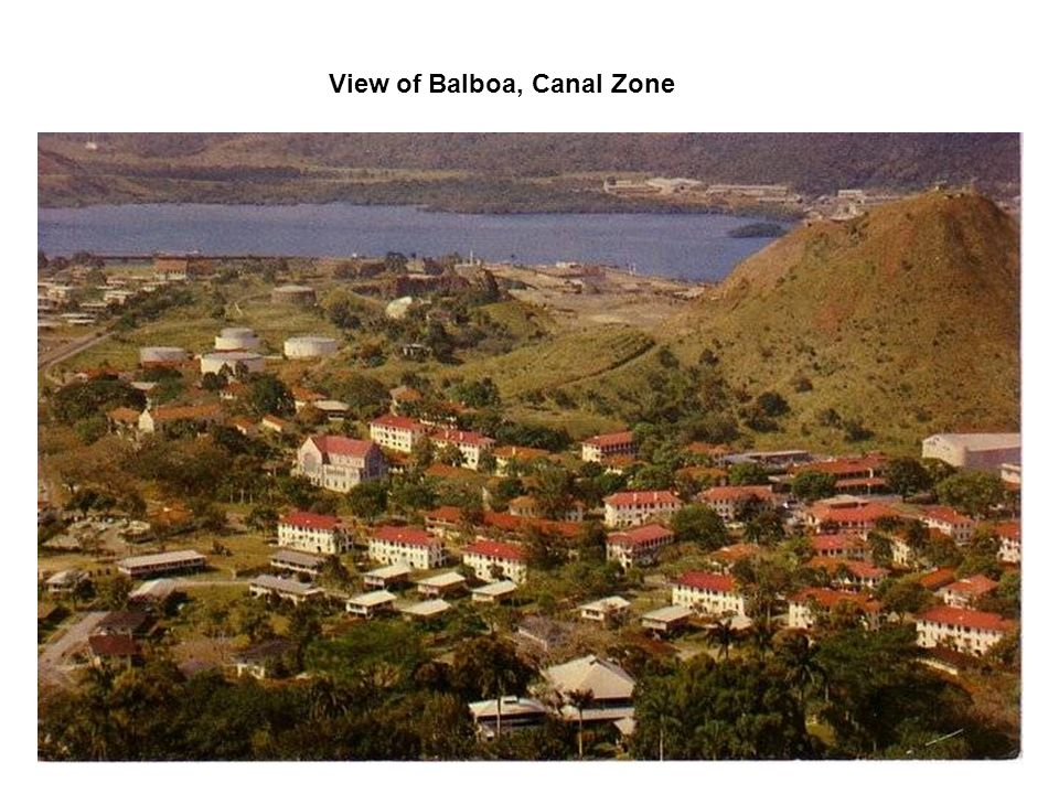 View of Balboa, Canal Zone