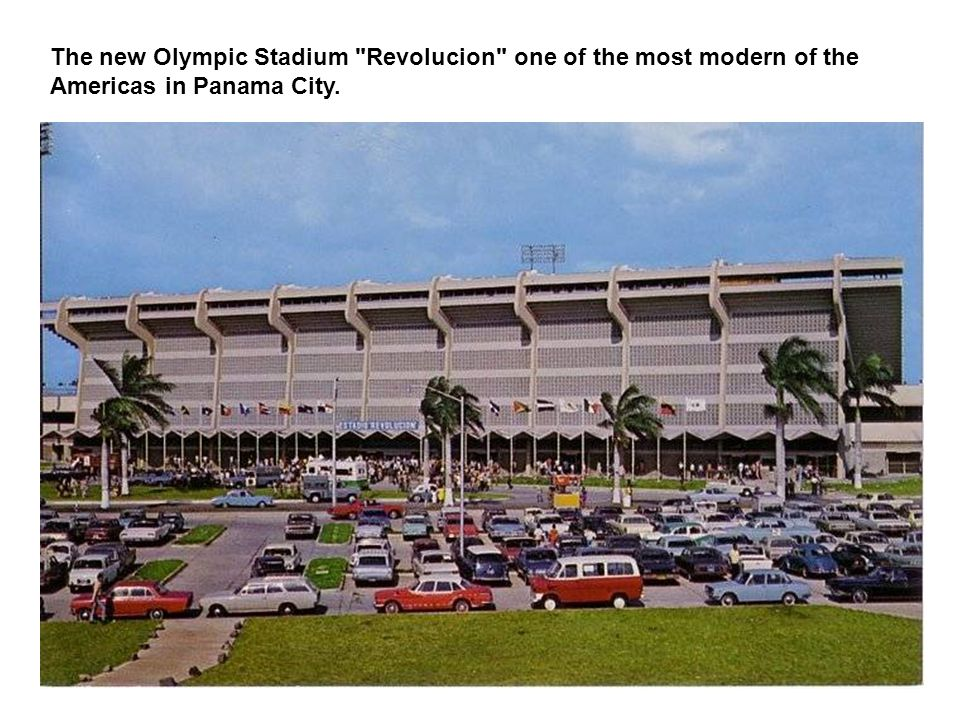 The new Olympic Stadium Revolucion one of the most modern of the Americas in Panama City.