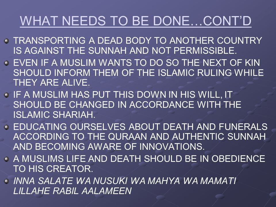 WHAT NEEDS TO BE DONE…CONT'D