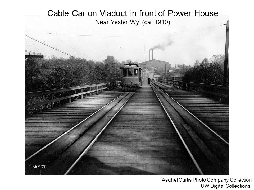 Cable Car on Viaduct in front of Power House