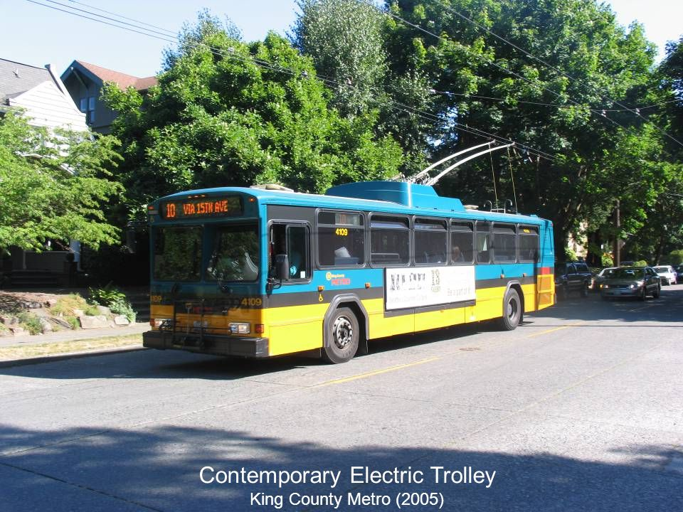 Contemporary Electric Trolley