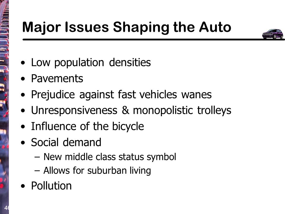 Major Issues Shaping the Auto