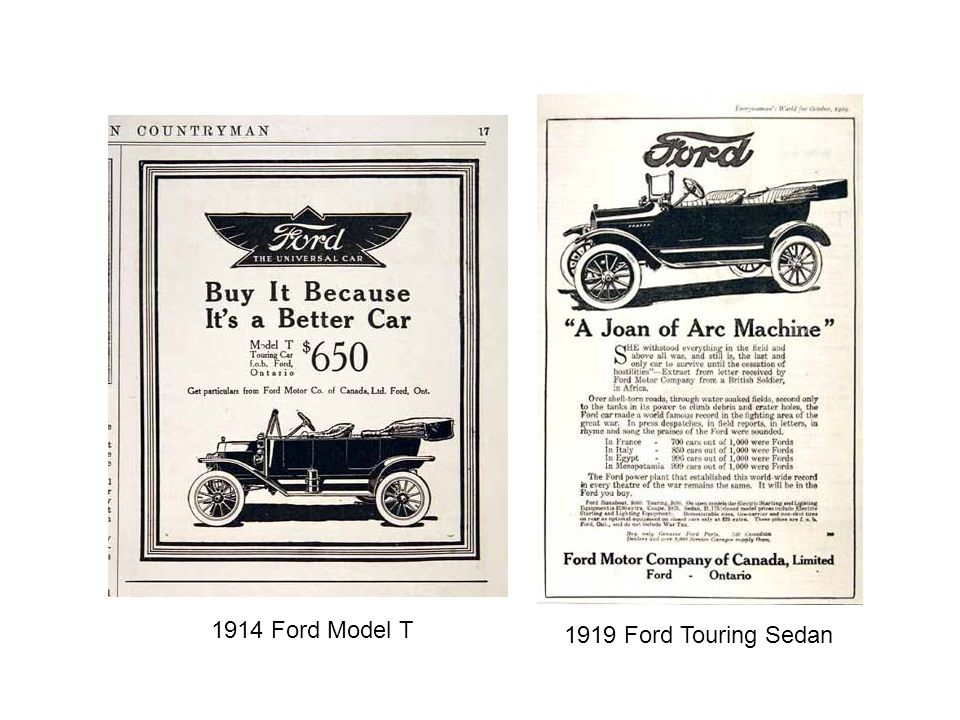 1914 Ford Model T 1919 Ford Touring Sedan