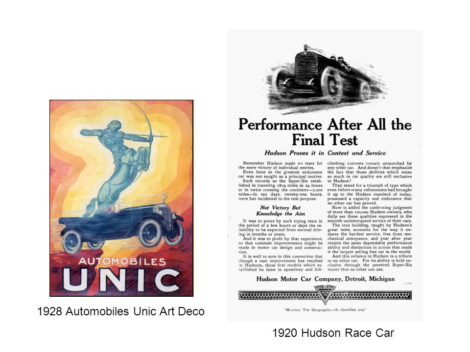 1928 Automobiles Unic Art Deco
