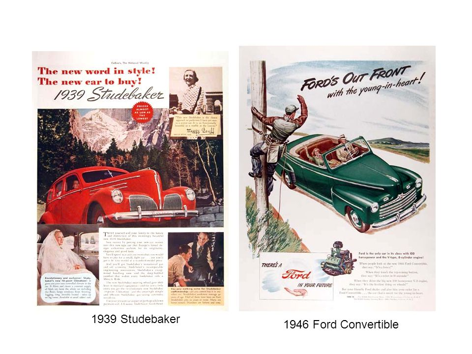 1939 Studebaker 1946 Ford Convertible