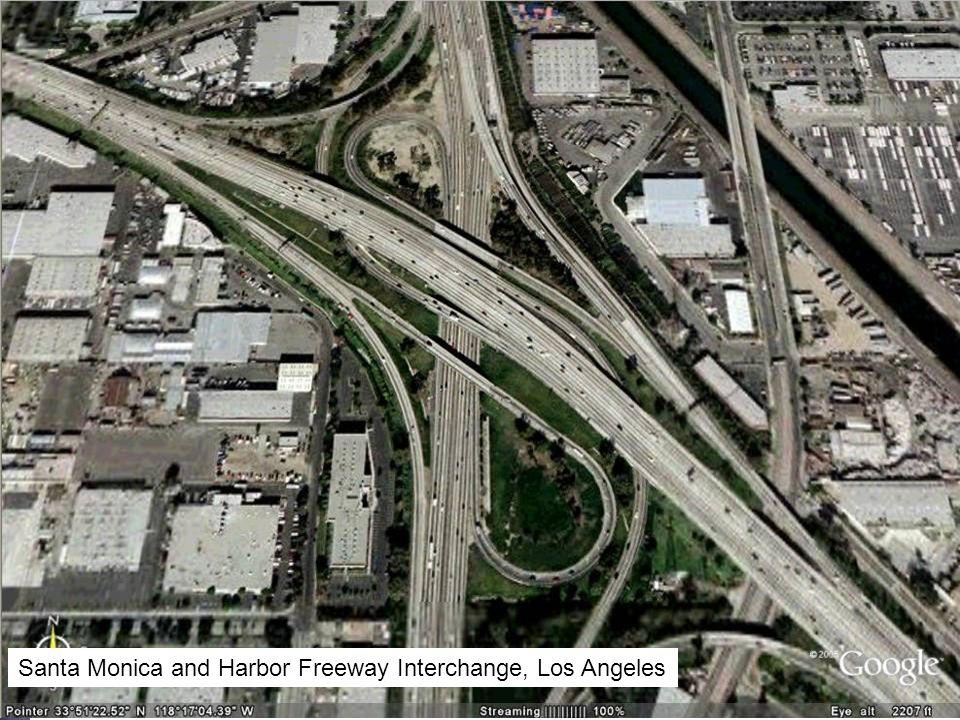 Santa Monica and Harbor Freeway Interchange, Los Angeles