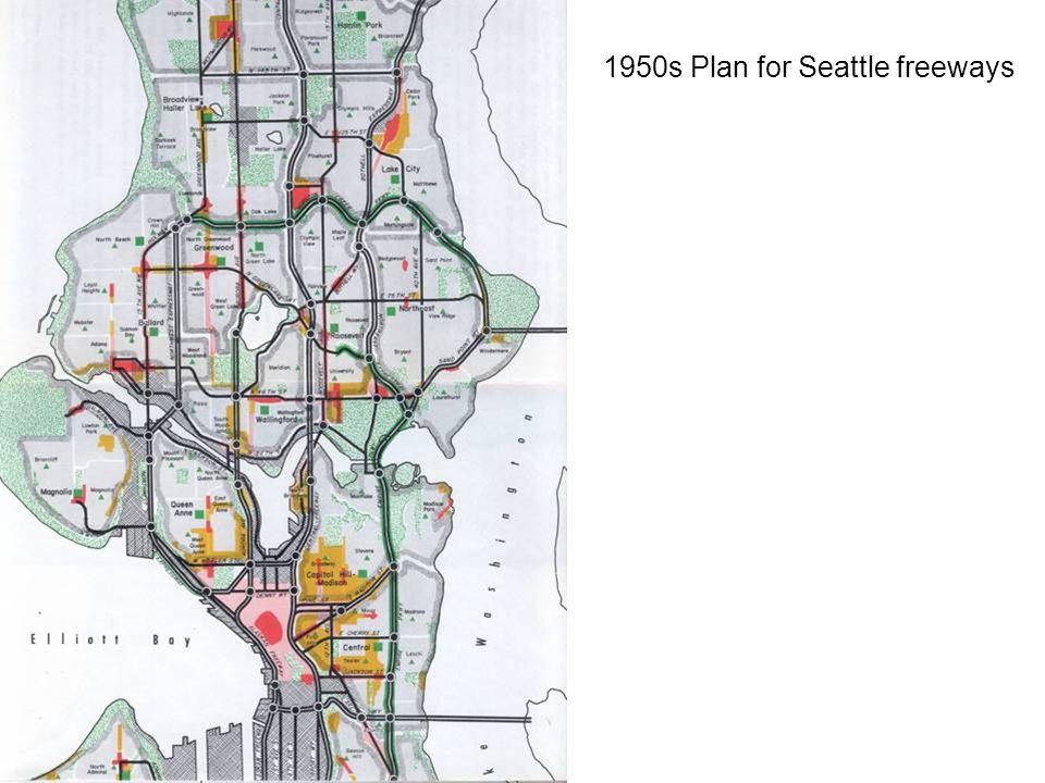 1950s Plan for Seattle freeways