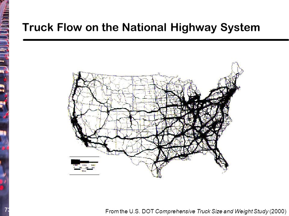 Truck Flow on the National Highway System