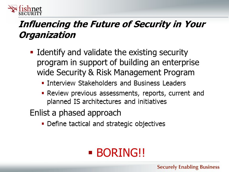Influencing the Future of Security in Your Organization