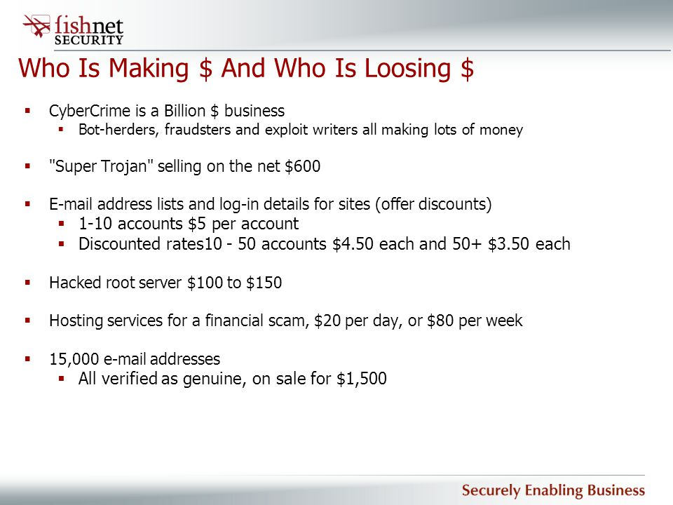 Who Is Making $ And Who Is Loosing $