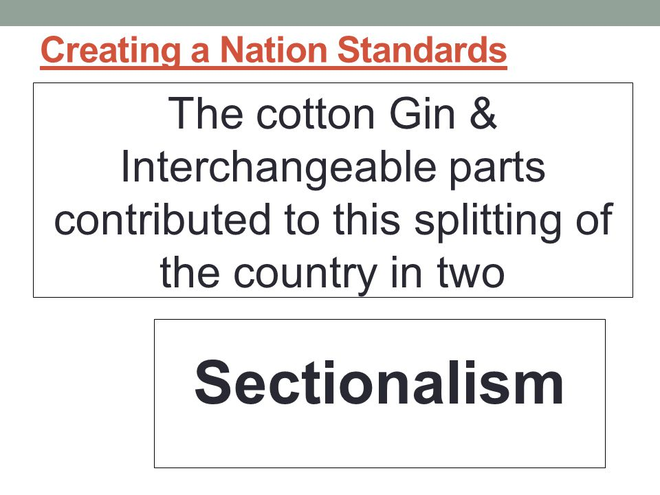 Creating a Nation Standards