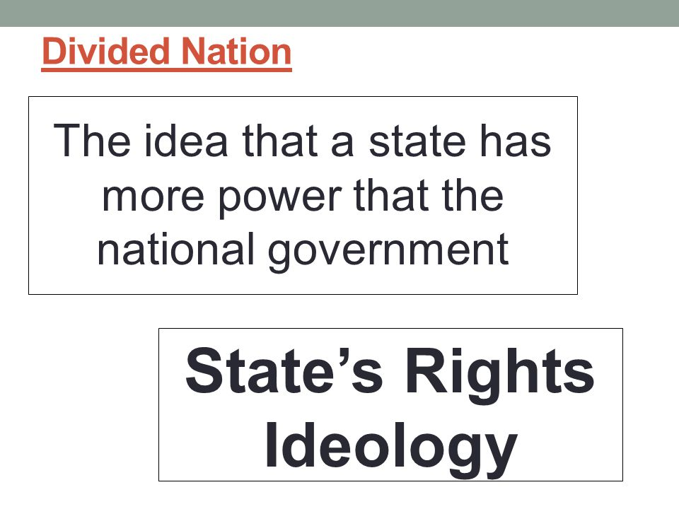 State's Rights Ideology