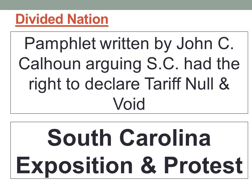 South Carolina Exposition & Protest