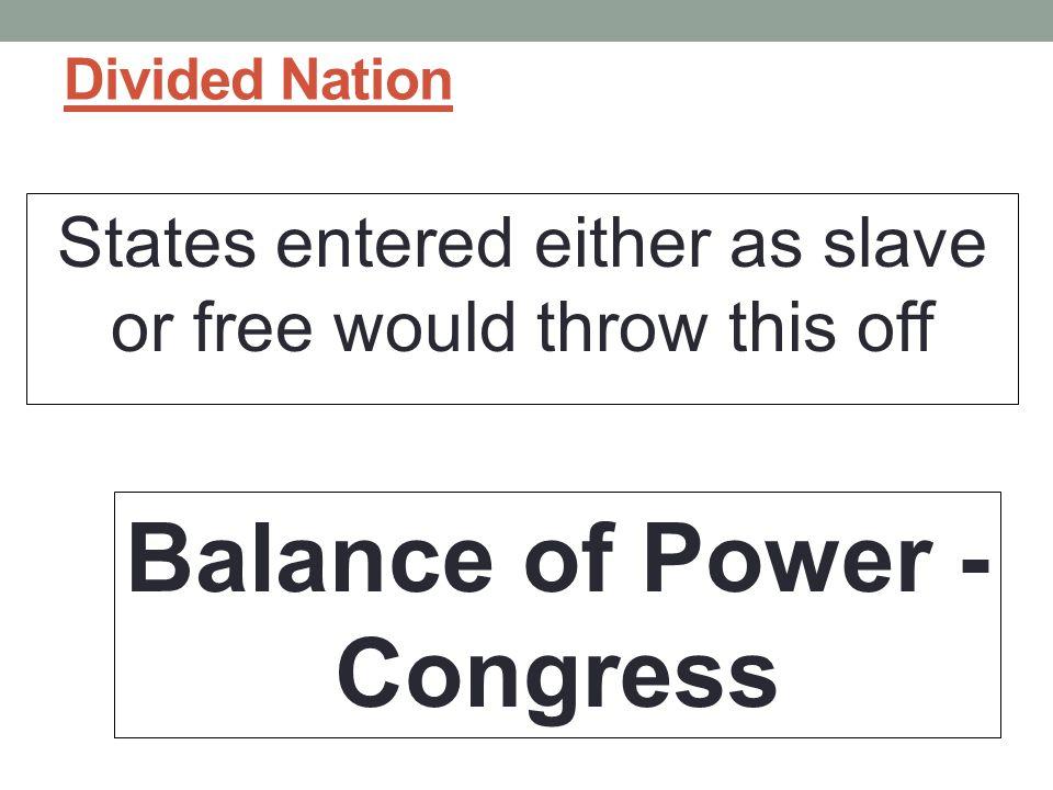 Balance of Power - Congress