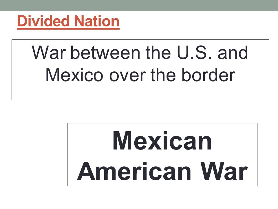 War between the U.S. and Mexico over the border