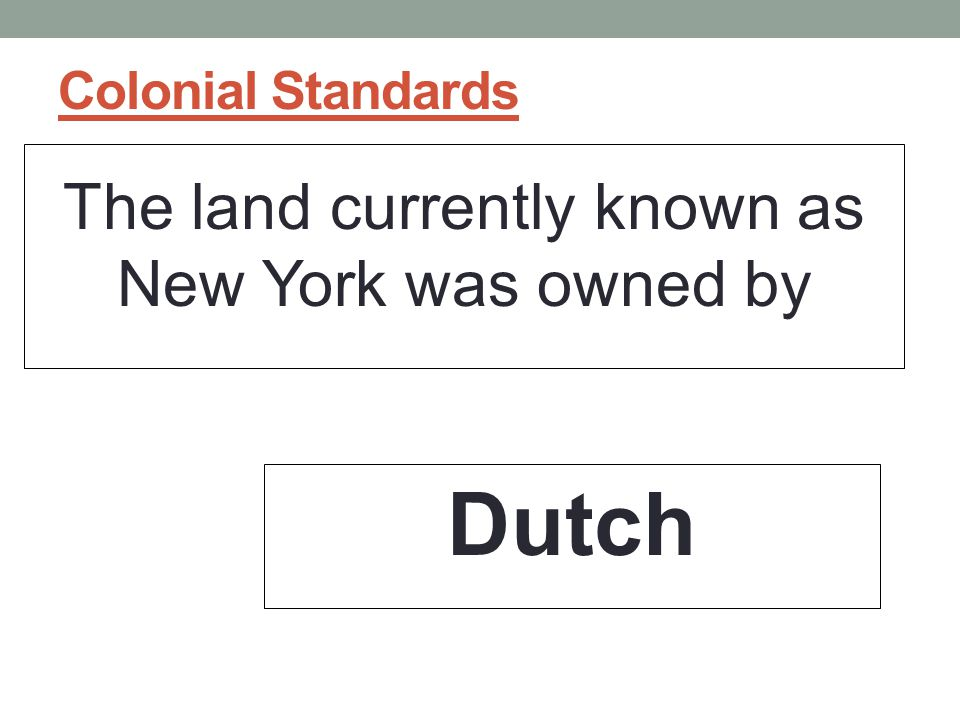 The land currently known as New York was owned by