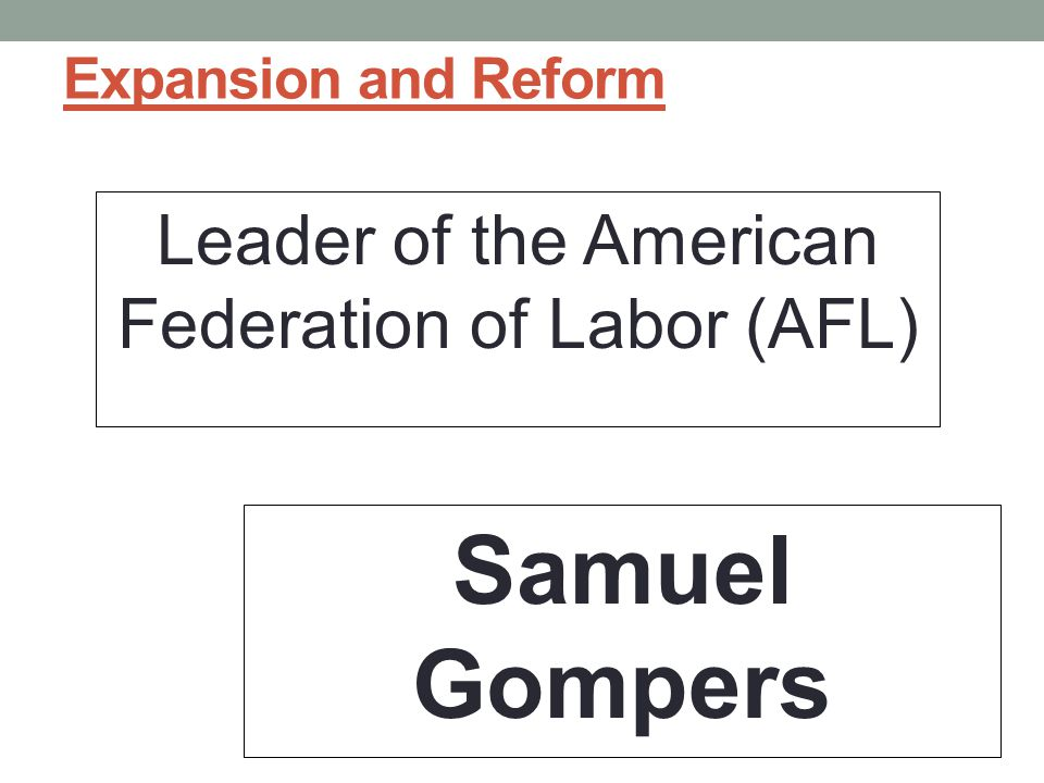 Leader of the American Federation of Labor (AFL)