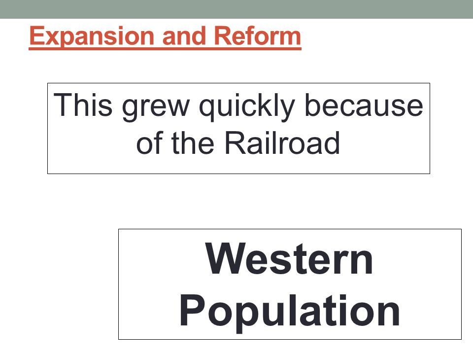 This grew quickly because of the Railroad