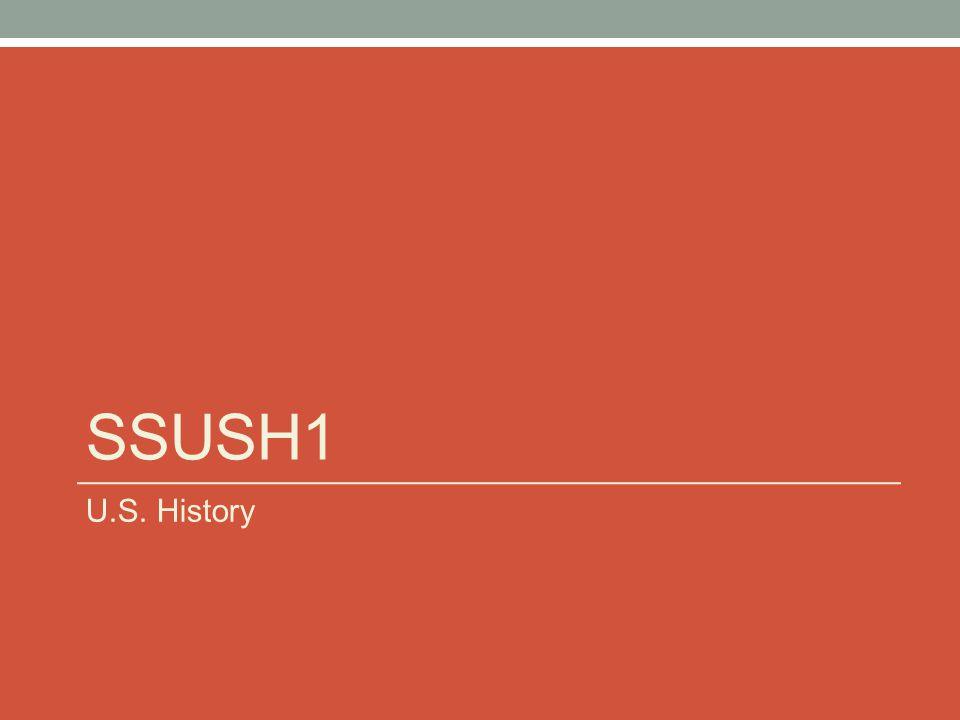 SSUSH1 U.S. History