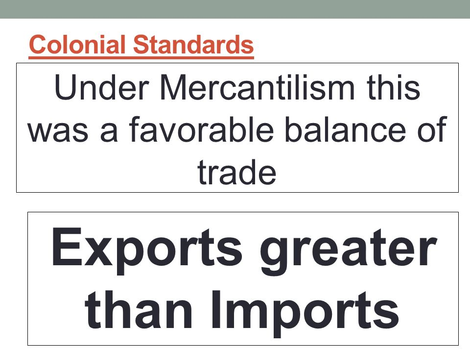 Exports greater than Imports