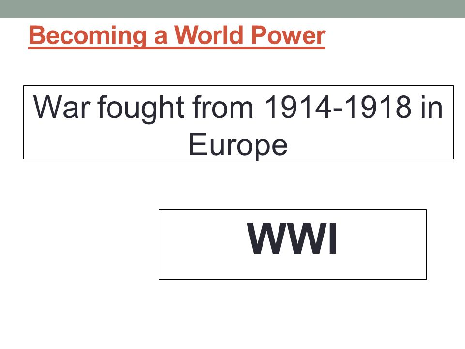 War fought from 1914-1918 in Europe
