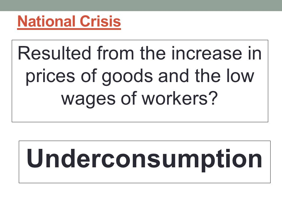 National Crisis Resulted from the increase in prices of goods and the low wages of workers.