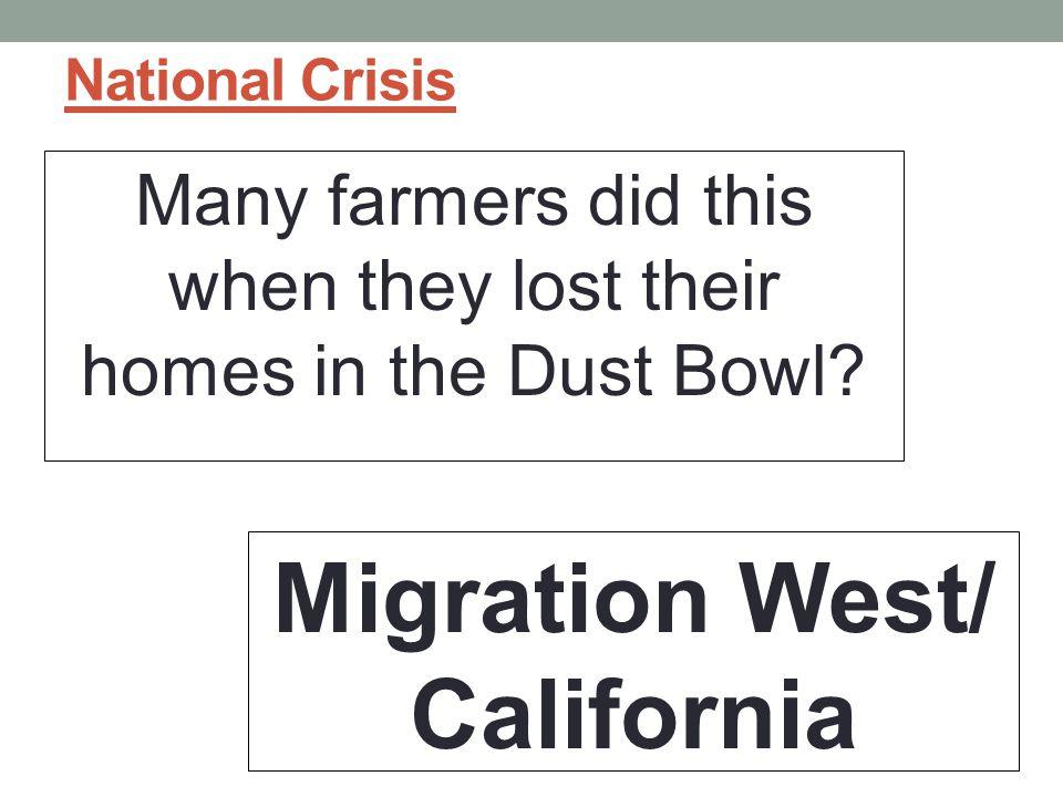 Migration West/ California