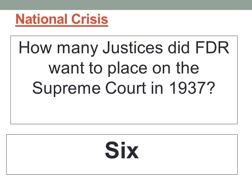 How many Justices did FDR want to place on the Supreme Court in 1937