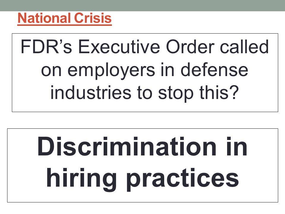 Discrimination in hiring practices