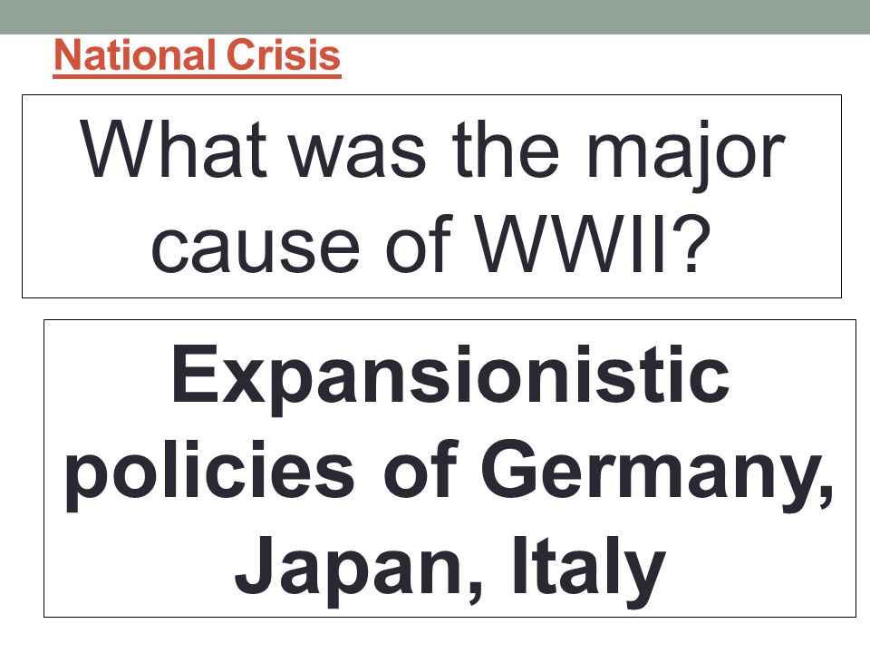 Expansionistic policies of Germany, Japan, Italy