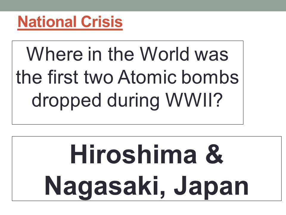 Hiroshima & Nagasaki, Japan