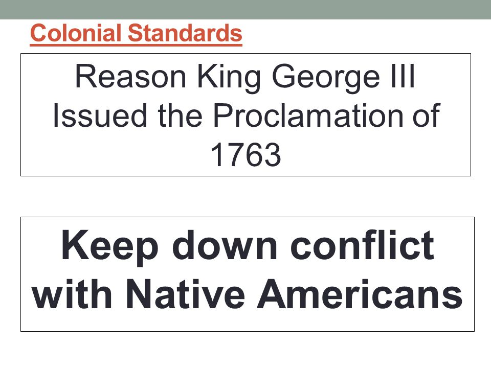 Keep down conflict with Native Americans