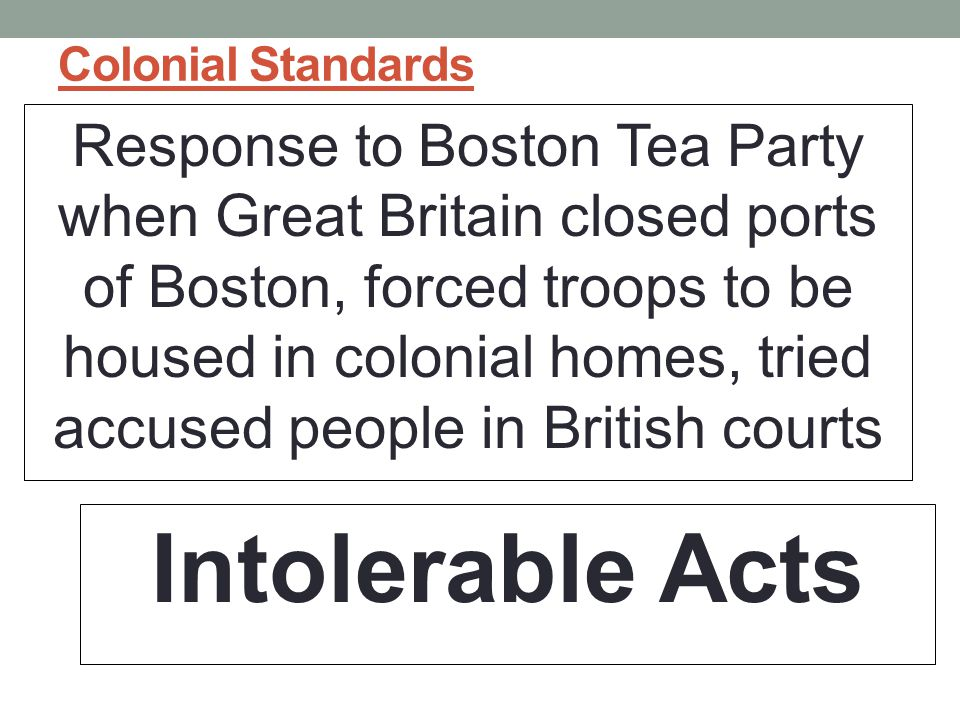 Colonial Standards