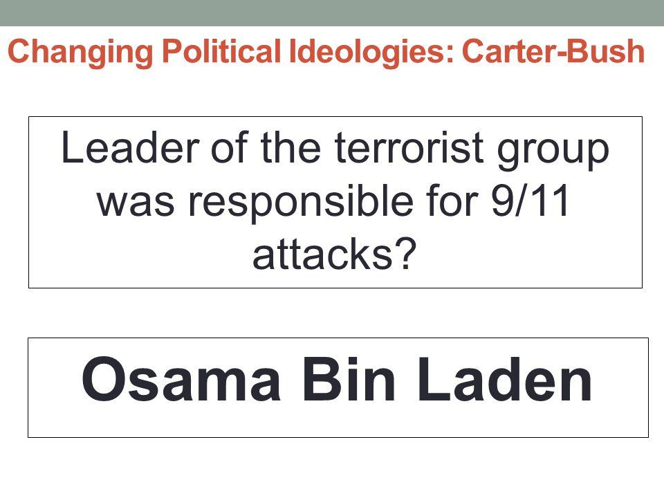 Changing Political Ideologies: Carter-Bush