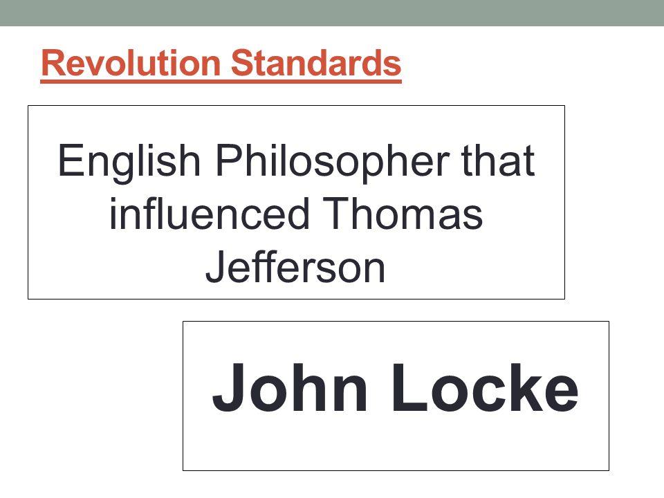 English Philosopher that influenced Thomas Jefferson