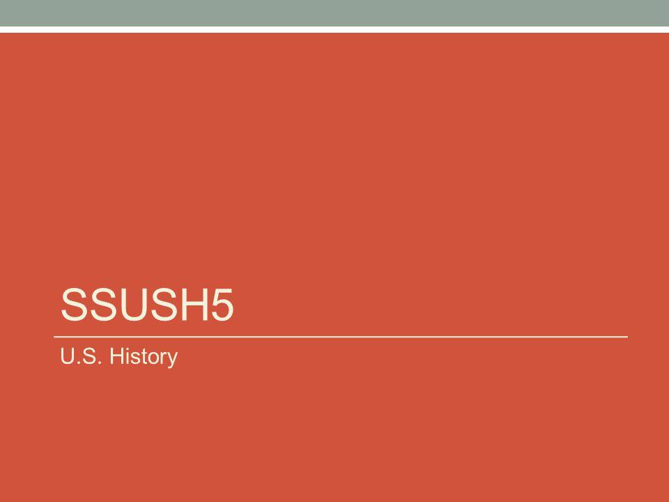SSUSH5 U.S. History
