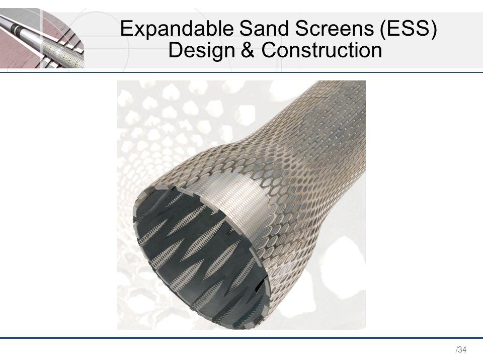 Expandable Sand Screens (ESS) Design & Construction