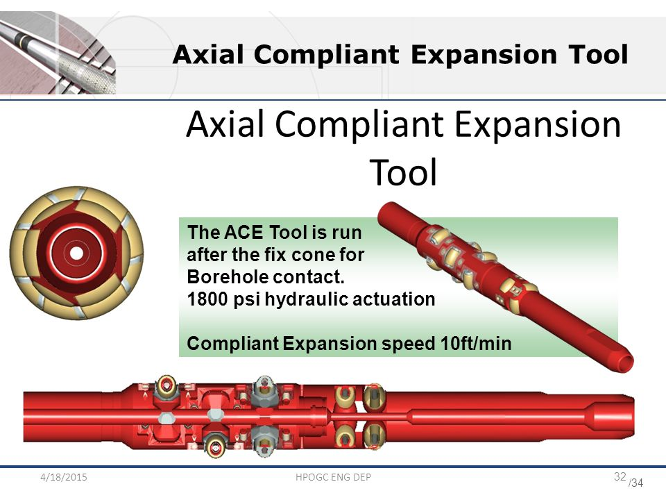 Axial Compliant Expansion Tool