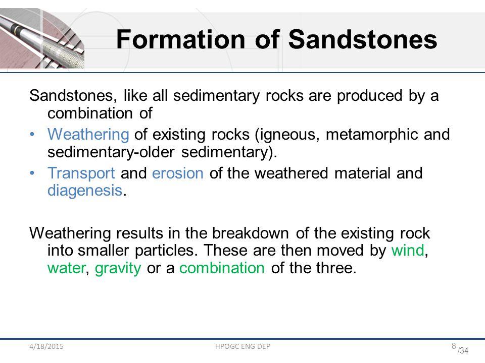 Formation of Sandstones