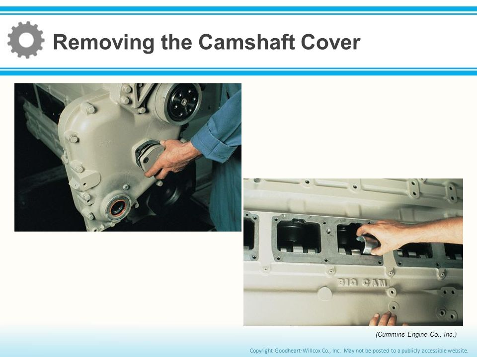 Removing the Camshaft Cover