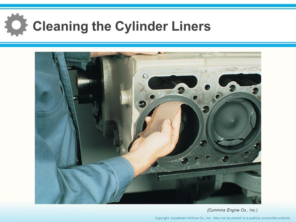 Cleaning the Cylinder Liners