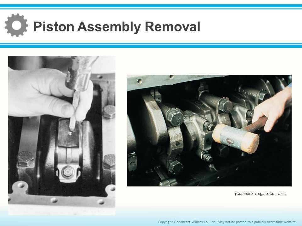 Piston Assembly Removal
