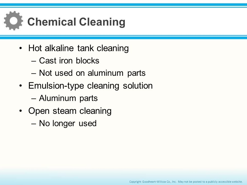 Chemical Cleaning Hot alkaline tank cleaning