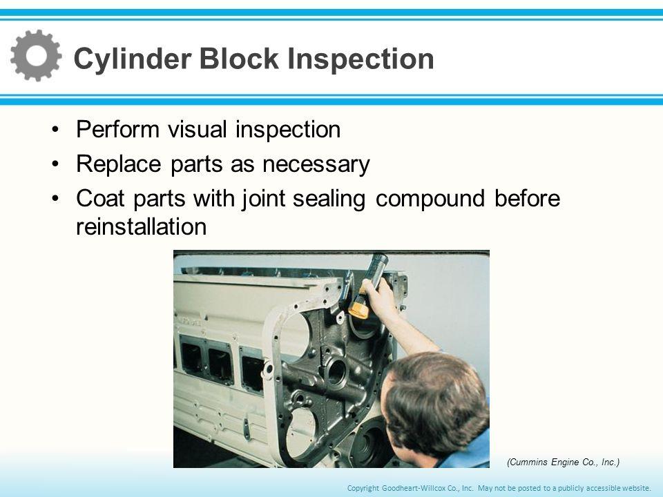 Cylinder Block Inspection