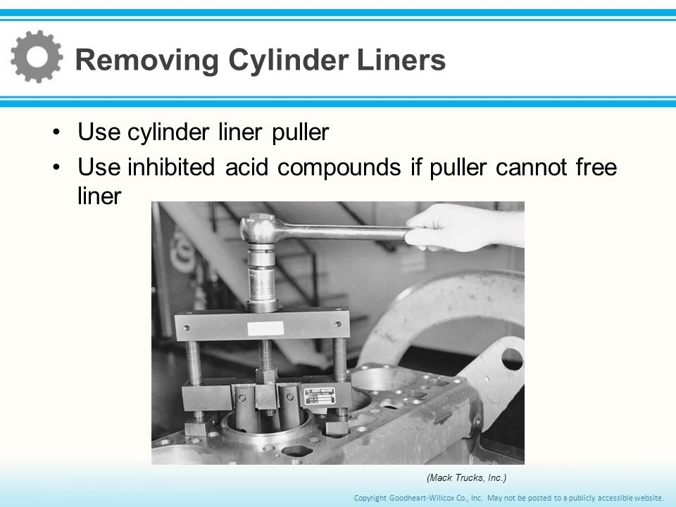 Removing Cylinder Liners