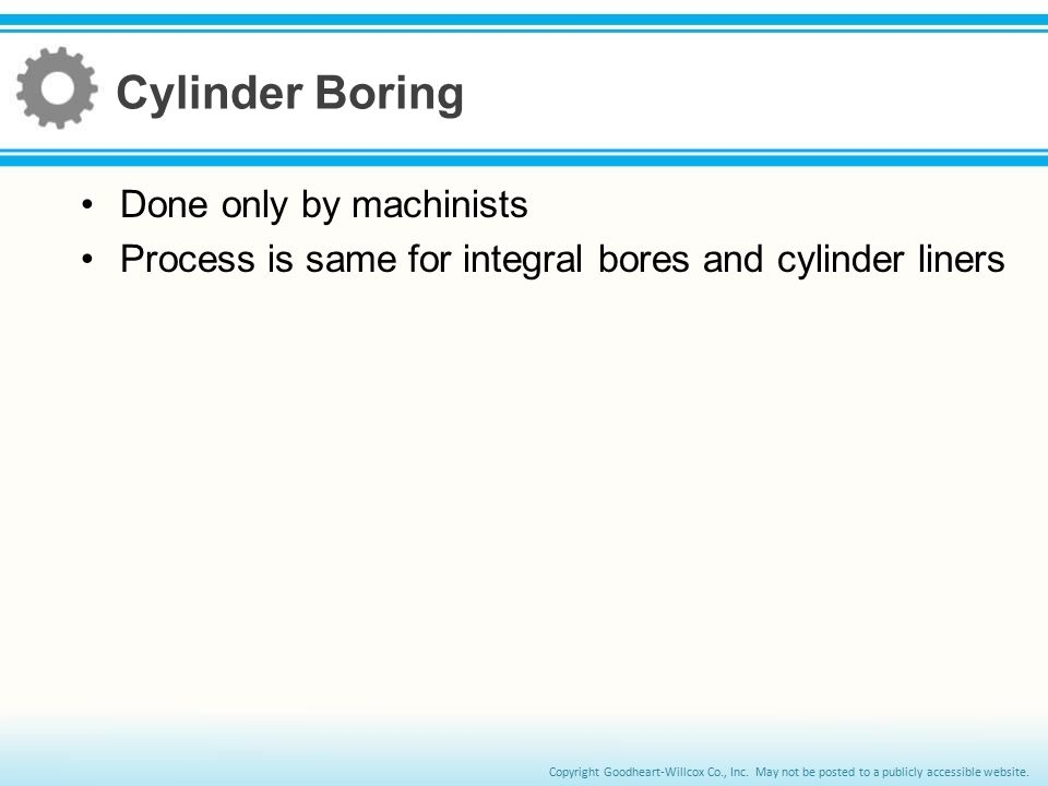 Cylinder Boring Done only by machinists